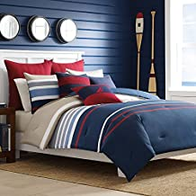 Nautica 204947 Bradford Reversible Comforter Set, Full/Queen