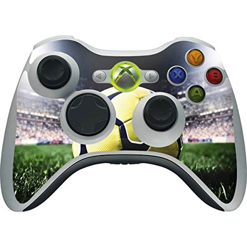 Sports Xbox 360 Wireless Controller Skin - Soccer & Lights Vinyl Decal Skin For Your Xbox 360 Wireless Controller