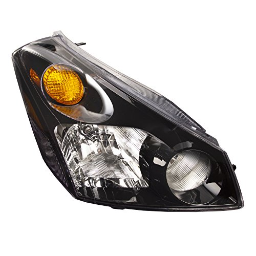 Headlights Depot Replacement for Nissan Quest Black Headlight OE Style Replacement Headlamp Passenger Side New