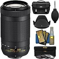 Nikon 70-300mm f/4.5-6.3G DX AF-P ED Zoom-Nikkor Lens with Case + 3 Filters + Hood Kit for D3300, D3400, D5500, D7100, D7200 Cameras