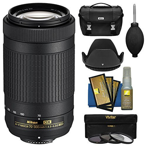 Nikon 70-300mm f/4.5-6.3G DX AF-P ED Zoom-Nikkor Lens with Case + 3 Filters + Hood Kit for D3200, D3300, D3400, D5300, D5500, D7100, D7200 DSLR Camera - Nikon School Video