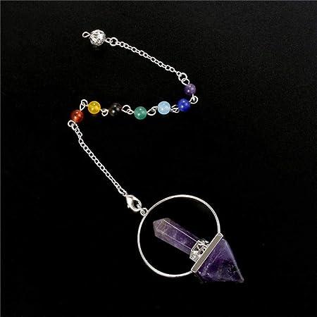1pc Quartz Cristal Pilier Hexagonal Chakra Healing Gemme Collier Pendentif
