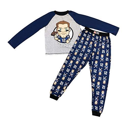 (NFLPA Tom Brady Boys 2 Piece Sleepwear (M))