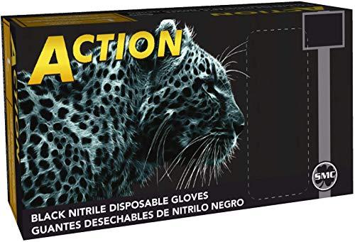 Shamrock 83013-L 6mil Black Nitrile Powder-Free Gloves, Fully Textured, Industrial