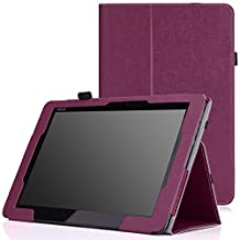 MoKo ASUS T100 Chi Case - Slim Folding Cover Case for T100 Chi 10.1 Inch (2015 Version) Windows Tablet, PURPLE (Will Not Fit T100 2013 Version)