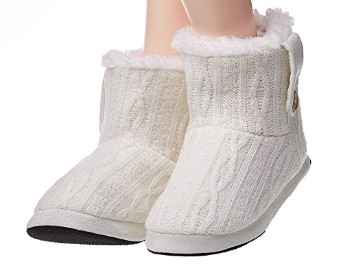 PLAGE Womens Winter Knitted Slippers