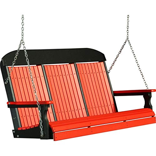 nice eco friendly porch swing made of recycled plastic