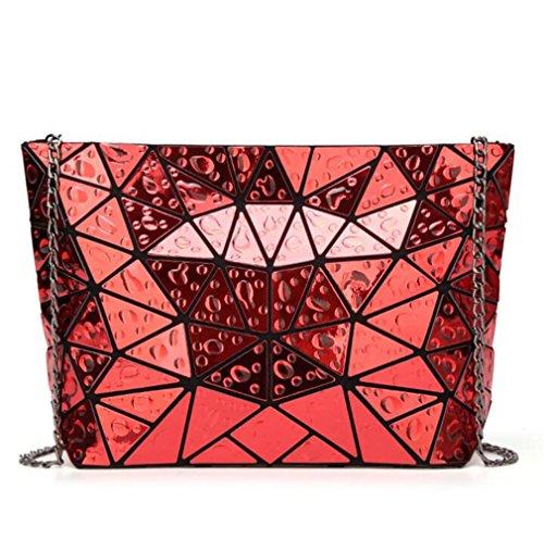 Las Geométrico Holograma Red Gotas Mujeres Embrague Bolso Del La Moda Kaoling Hombro Agua De Cadena FAR8f8