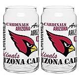 NFL Arizona Cardinals Spirit Glass Can, 16-ounce, 2-Pack