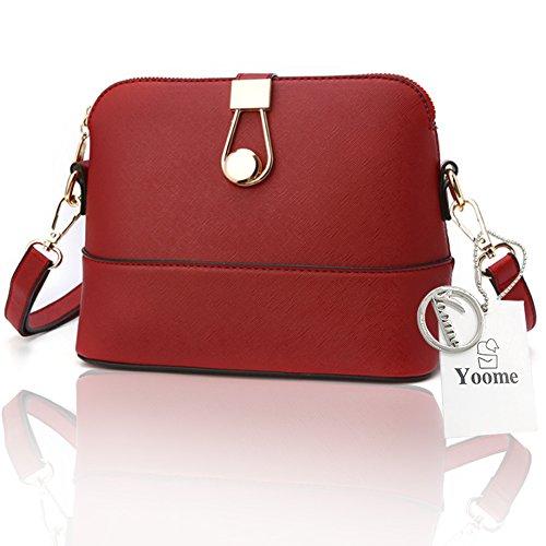 Yoome cruz patrón retro de lujo bolso embrague embrague de bolsos para las niñas de los bolsos casuales para las mujeres - azul rojo