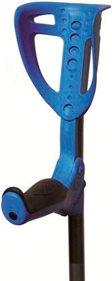 Queraltó Par de Muletas Bastón Inglés Regulables Ergotech con Empuñadura Acolchada, Azul