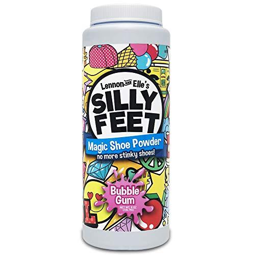 Silly Feet Magic Shoe Deodorizer Powder | Foot Powder Shoe Odor Eliminator For Kids Smelly Feet | 8 oz Bubble Gum Scent