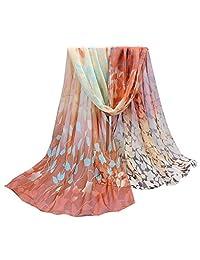 DKmagic Women Printed Soft Chiffon Shawl Wraps Scarf Scarves