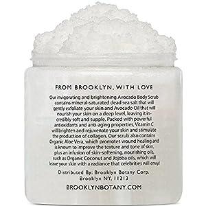 Avocado Body Scrub 10 oz - Exfoliating Scrub for Skin Brightening, Anti Aging and Dark Spots - Infused with Vitamin C and Avocado Oil to Exfoliate and Moisturize skin - Brooklyn Botany