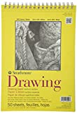 "Strathmore 340-9 300 Series Drawing Pad, Medium Surface, 9""x12"" Wire Bound, 50 Sheets"