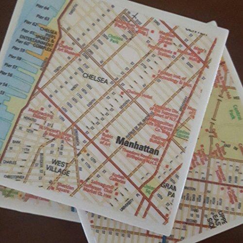 New York City Street Map Coasters, Set of 4