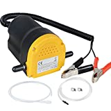 Voilamart 12V 60W Oil Suction Pump, Diesel Extractor Pump, Change Extractor Submersible Oil Scavenger Transfer Pump for Car/Motorcycles/Boats/Caravan/Truck
