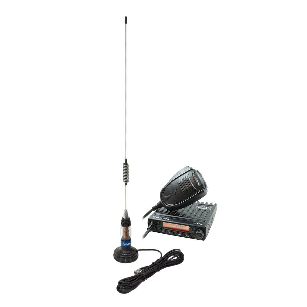 PNI Kit CB Radio Albrecht AE 6110 + Antenne CB Midland LC59 avec base magné tique ALB-PACK26
