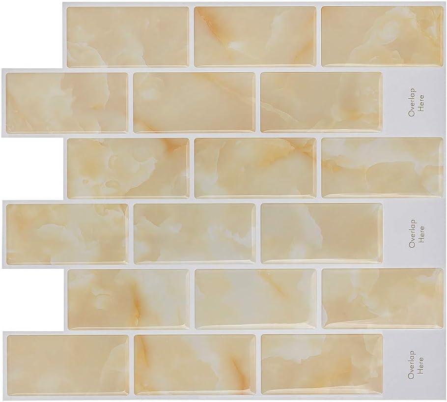 Amazon Com Hue Decoration Peel And Stick Tile Backsplash Tile For Kitchen Decorative Subway Tile Smart Sticker Tile For Rv Kitchen 11 X 10 Pack Of 8 Home Kitchen
