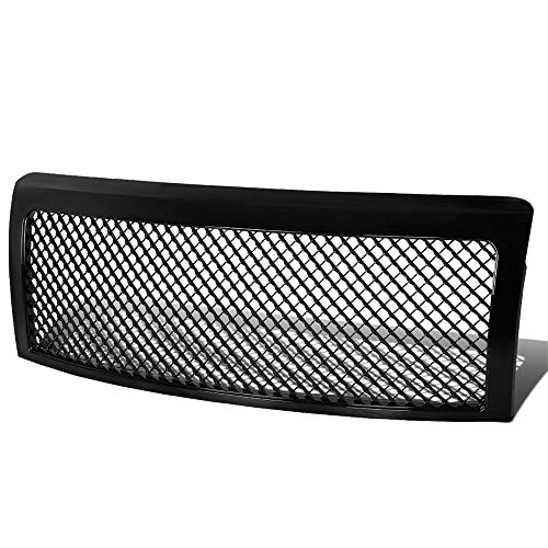 - AA Products Front Grille Compatible Ford F150 2009 up to 2014 Luxury Sport Mesh ABS Replacement Grille with Shell Gloss Black