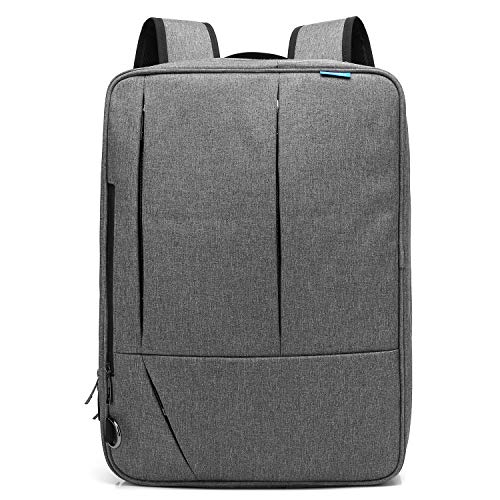 CoolBELL Convertible Messenger Bag Backpack Shoulder Bag Laptop Case Handbag Business Briefcase Multi-Functional Travel Rucksack Fits 17.3 Inch Laptop for Men/Women ()