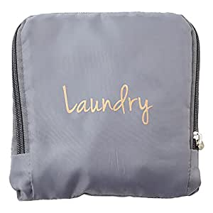 MIAMICA Miamica Laundry Bag, Assorted Styles, Grey/Gold (Gray) - M31082