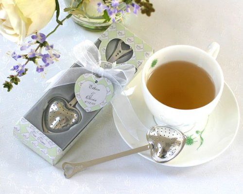 ''Tea Time'' Heart Tea Infuser Favor in Teatime Gift Box [Set of 96] by Kate Aspen