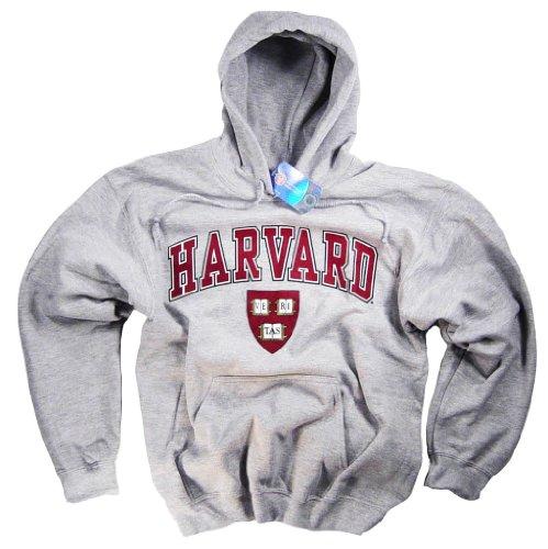 Collegiate Hoodie Sweatshirt - Harvard Shirt Hoodie Sweatshirt College University Crimson Crew NCAA Officially Licensed Collegiate Product Gray Medium