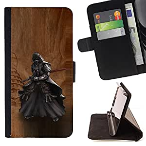 Jordan Colourful Shop - Japanese Ancient Samurai Katana Warrior For Apple Iphone 5C - < Leather Case Absorci????n cubierta de la caja de alto impacto > -