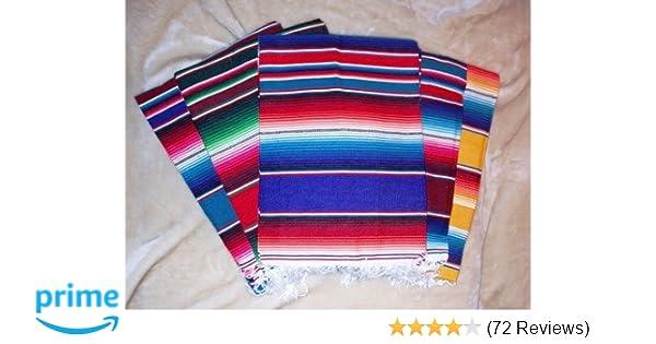 Amazon.com  Roger Enterprises Large Authentic Mexican Serape Saltillo  Blankets 7  5   Kitchen   Dining e077888b91