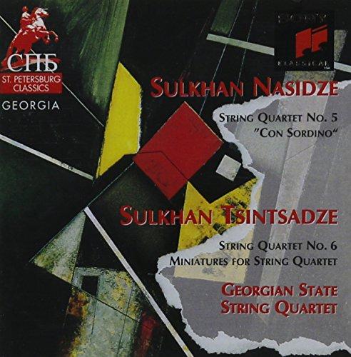 Sulkhan Tsintsadze: String Quartet No. 6 & Miniatures / Sulkhan Nasidze: String Quartet No. 5 ()