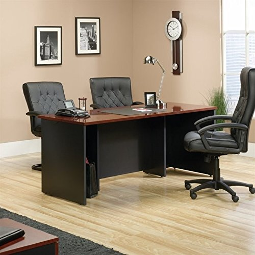 Sauder Via Executive Desk in Classic Cherry Cherry Executive Office Desk