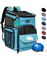 PetAmi Pet Carrier Backpack for Small Cats, Dogs, Puppies | Airline Approved | Ventilated, 4 Way Entry, Safety and Soft Cushion Back Support | Collapsible for Travel, Hiking, Outdoor