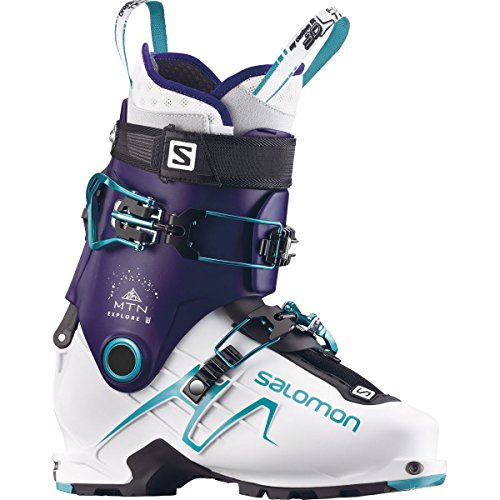 - Salomon MTN Explore Ski Boot - Women's Dark Purple/White/Aqua Blue, 25.5