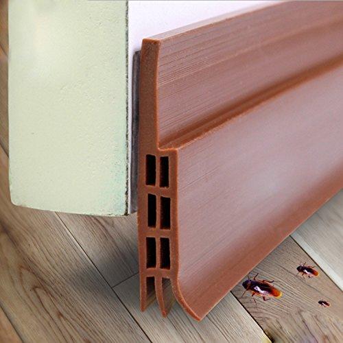 Brown Door Sweep (Impfunical Under Door Sweep Weather Stripping,Door Bottom Seal Strip draft stopper, 2