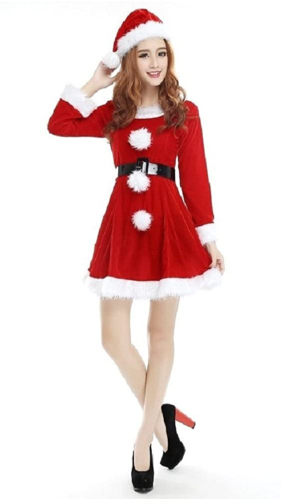 d903d16f396 One Size Fits ( S-M ) women. Material  Velvet Cotton brushed. Traditional Christmas  costume it is great for most body types. The Santa s Sweetie costume ...