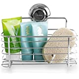 BINO SMARTSUCTION Rust Proof Stainless Steel Shower Caddy, Basket