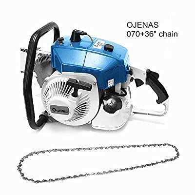 OJENAS Gasoline-Powered MS070 Chain Saw 2 Stroke 105cc 4.8KW with 36-Inch 404.063 Chain ONLY MS 070 Big Tree Wood Cutting New