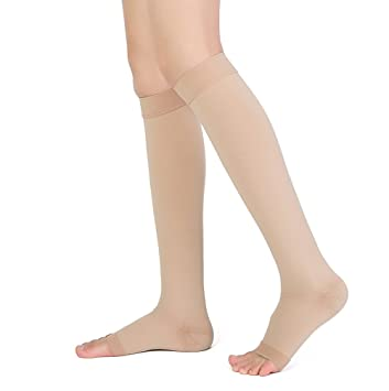06c9648ca5 Knee High Compression Stockings, TOFLY Firm Support 20-30mmHg Opaque Maternity  Pregnancy Compression Socks