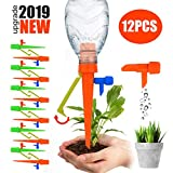 ?2019 NEW ?Plant Self Watering Spikes System with Slow Release Control Valve Switch Self Irrigation Watering Drip Devices, Plant Waterer with Anti-Tilt Anti-Down Bracket, Suitable for All Bottles