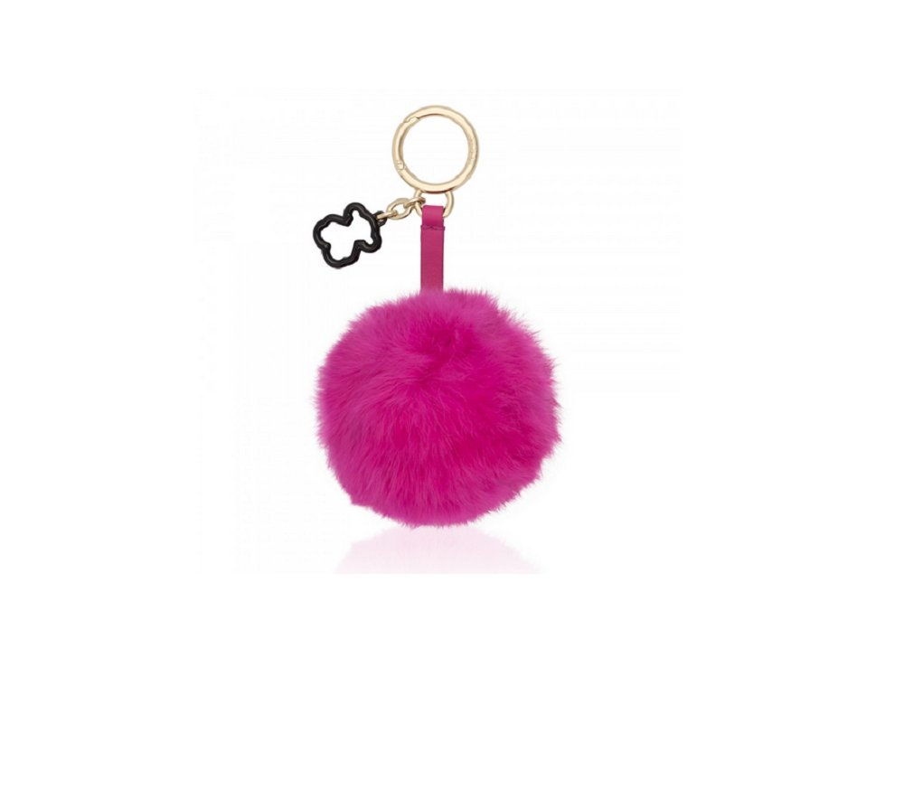 Llavero pompón Tous Fur Charming en Color Fucsia: Amazon.es ...
