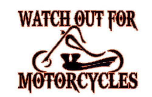 Watch Out For Motorcycles Chopper Enduro Dualsport Vinyl Decal Sticker CUSTOM ()