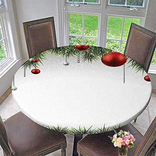Man Placemat Spider 3 (Mikihome Modern Simple Round Tablecloth Collection Classical Christmas Ornaments and Baubles on Pine Tree Twig Tinsel Picture Print Decoration Washable 59