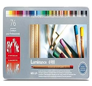 Lápices Caran D'Ache luminancia - Lápices de colores (Tin de 76)