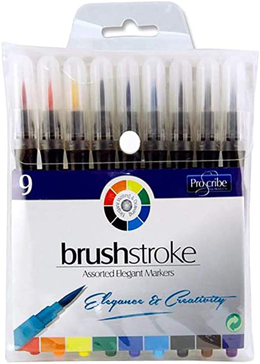 Pro:Scribe - Pack de 9 rotuladores para pinceles Colores surtidos ...