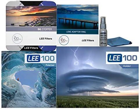 LEE Filters LEE100 77mm スペシャルエディション ビッグストッパーキット - LEE100ホルダー LEE100偏光フィルター 100mmビッグストッパー 77mm広角アダプター