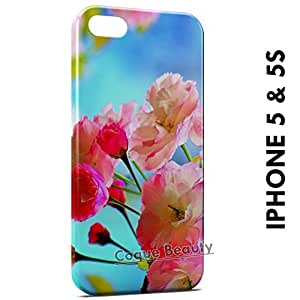 Carcasa Funda iPhone 5/5S Pink Flowers 2 Protectora Case Cover