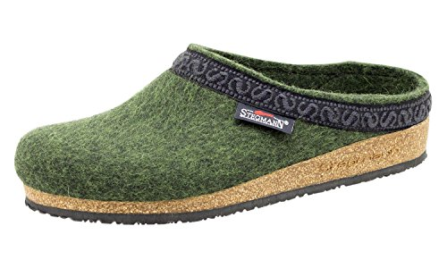 Cork Clog Pine Green Wool Stegmann Felt Women's with Sole qwBnvX1Rv