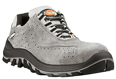 JALLATTE jalor Litio Zapato de Seguridad Seguridad Guantes Guantes de Trabajo Plana S1P, Color Gris, Talla 43