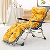 Der and Winter Recliner Cushion,Rocking Chair,Folding Recliner Cushion,Thick Cushion Cushion Outdoor Cushion for Garden Office (Color : B, Size : 53x130x10cm(21x51x4inch))